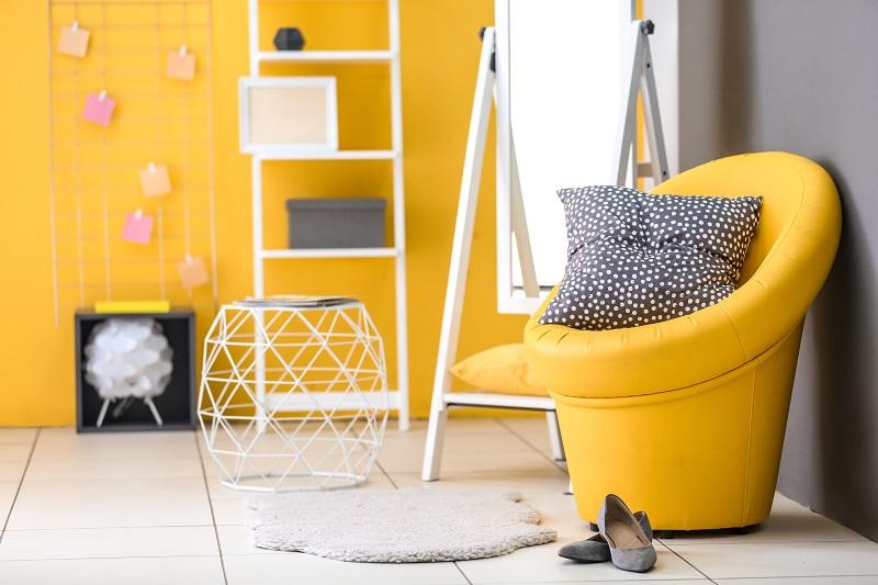 Yellow creates happiness