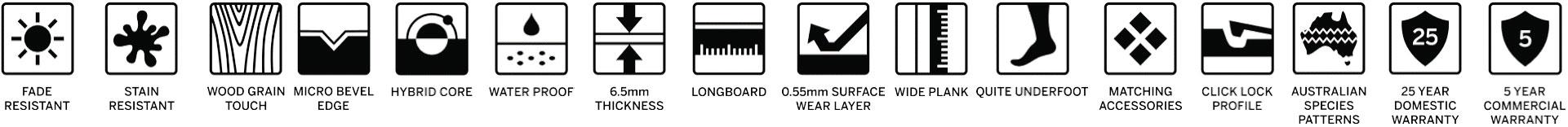 Ornato Hybrid Waterproof Floor Specifications